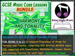 GCSE Music Harmony and Tonality Bundle