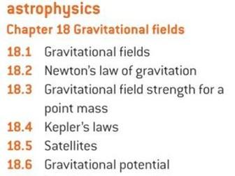 OCR A level Physics: Gravitational Fields