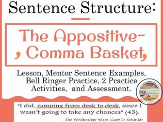 Sentence Structure with the Appositive (the comma basket)