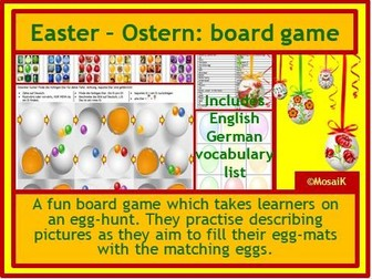 German Easter Ostern egg hunt - board game