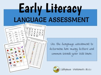 Early Literacy Language Assessment
