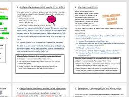 KS3 Computational Thinking Project - Practical Problem Solving (Full Unit of Work)