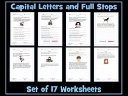 Full Stops and Capital Letters Worksheets