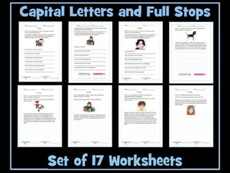 full stops and capital letters by krazikas teaching resources. Black Bedroom Furniture Sets. Home Design Ideas