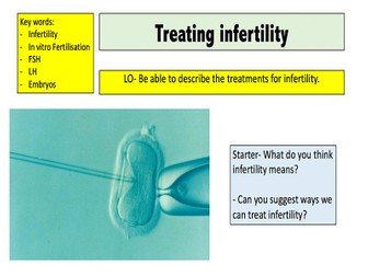 Treating infertility / The use of hormones to treat infertility