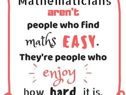 Maths Classroom and Corridor Displays