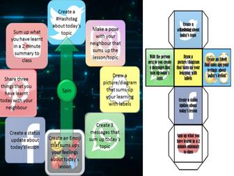 Social Media Plenary Wheel and Dice