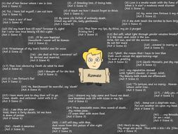 Romeo Poster – Key Quotes (Romeo and Juliet)
