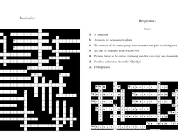 7. Respiration Crossword: Text Documents and Interactive Webpages