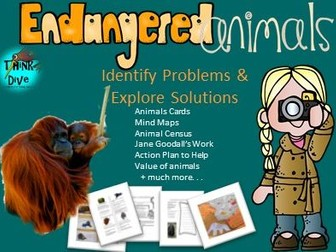 Endangered Animals: Project Based Learning, Identify Problems, Explore Solutions, KS1, NGSS