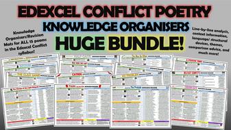 edexcel conflict poetry knowledge organisers huge bundle by tandlguru teaching resources. Black Bedroom Furniture Sets. Home Design Ideas