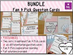 Maths Fan & Pick Question Cards Pack