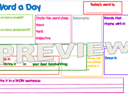 Y3 Morning activity - Word a Day - SPAG