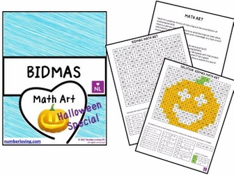 BIDMAS Maths Art Halloween Special