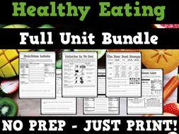 Healthy Eating Unit Bundle
