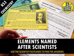 The Elements Named After Scientists Fact Finding Activity