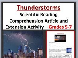 Thunderstorms – Science Reading Article - Grades 5-7