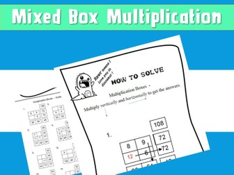 Free Mixed Times Table Multiplication Boxes Problems 40 Included NinaLaZina