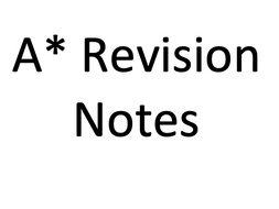 A* AQA A-Level Biology (New Specification) Revision notes