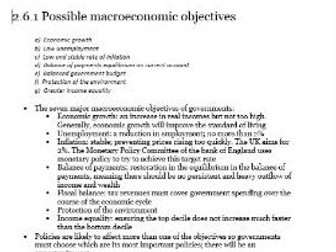 Edexcel Economics AS-level Unit 2.6 Macroeconomic object...: all the revision notes you need to know
