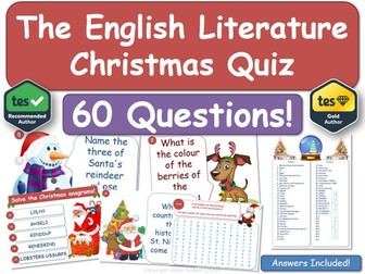 English Literature Christmas Quiz!