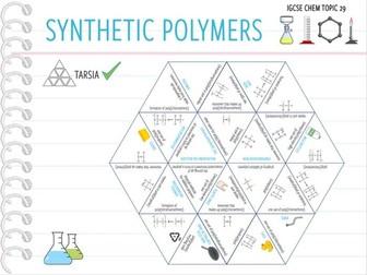 IGCSE Chemistry Topic 29: Synthetic polymers - Tarsia (KS4)