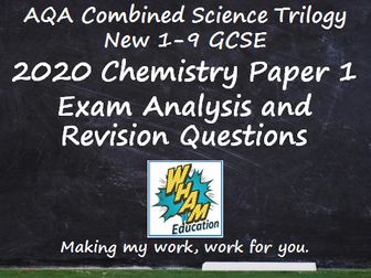 AQA Combined Science Trilogy Chemistry Paper 1 Revision and 2020 Exam Support
