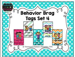 Behavior Brag Tags- Set 4