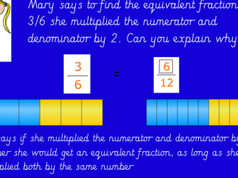 Equivalent Fractions Using the Bar Model And Multiplication