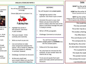 AQA Unseen Poetry Booklet / Workbook