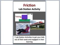 Friction - Physics Optics - 7 Engaging Lab Stations