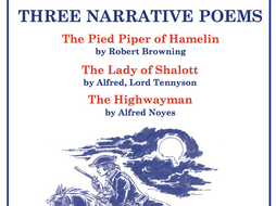 Three Narrative Poems Scheme of Work Sample Pages