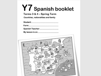 Y7 Spanish Booklet- Term2 - Countries/Languages/Family/Pets