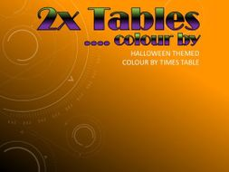 *HALLOWEEN* Colour by 2x Tables