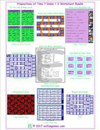 Prepositions of Time 7 Game Plus 2 Worksheet Bundle