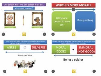 [P4C] The Moral Dilemma Generator - [200 Slide PPT with 'Randomiser'] PHILOSOPHY FOR KIDS