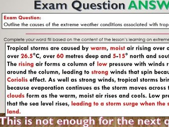 2017-2018 Year 11 OCR B Revision 24) Physical Geography Revision WITH ANSWERS