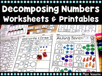 Composing And Decomposing Numbers 0-10 Worksheets