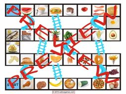 Food Types Chutes and Ladders Board Game