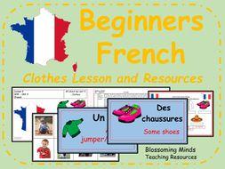 French lesson and resources - Clothes - les vêtements - KS2