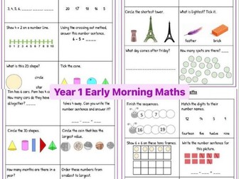 Year 1 Early Morning Maths