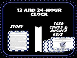 24 Hour Clock Story and Task Cards
