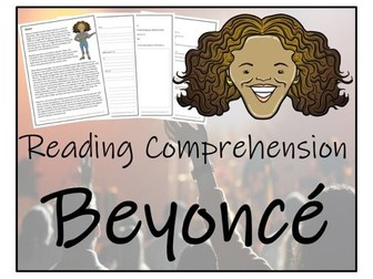 UKS2 Literacy - Beyoncé Reading Comprehension Activity