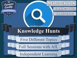 Metacognition Knowledge Hunts (x5) [Metacognitive Tool - 10/20]