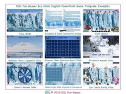 Ice Climb English Powerpoint Game TEMPLATE