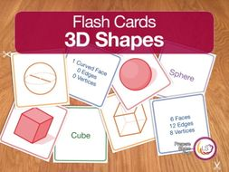 3D Shapes | Flash Cards