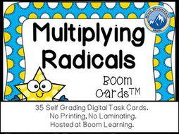 Multiplying Radicals Boom Cards-Digital Task Cards