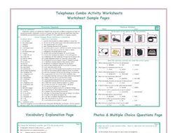 Telephones Combo Activity Worksheets