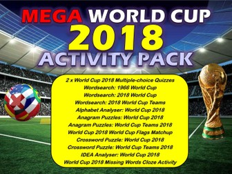 The World Cup 2018 Activities Pack Bundle Lesson PE Football Sport Wordsearch Puzzles etc