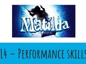 Dance KS3 Musical Theatre: Matilda Lesson 4
